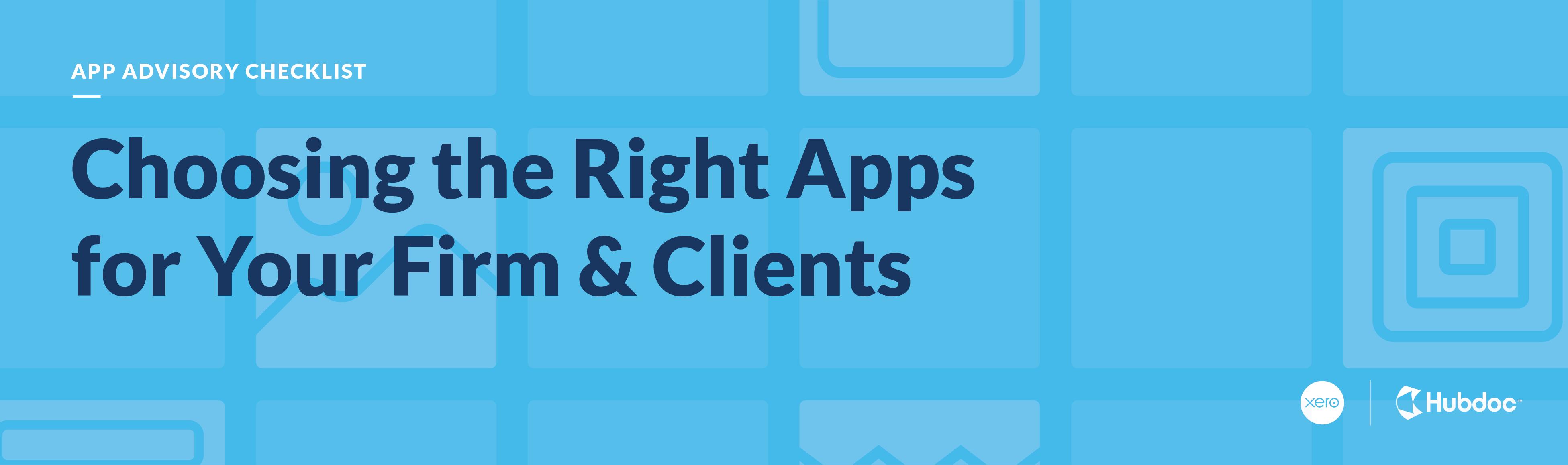 App Advisory Checklist