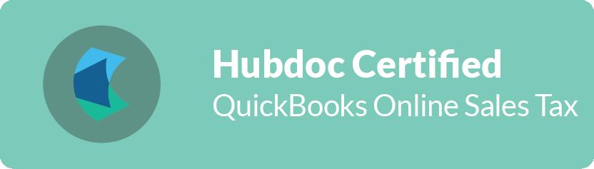 Hubdoc Certified QuickBooks Online Sales Tax